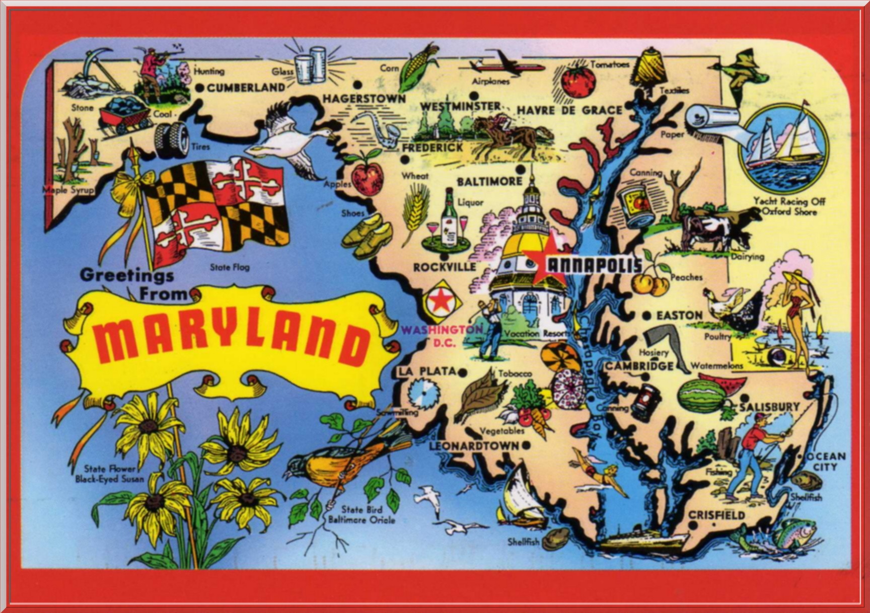 Carte postal du Maryland